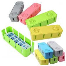 Fashion Safety Socket Outlet Board Container Cables Storage Organizer Case Box Colors