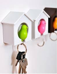 Birds key ring holder house