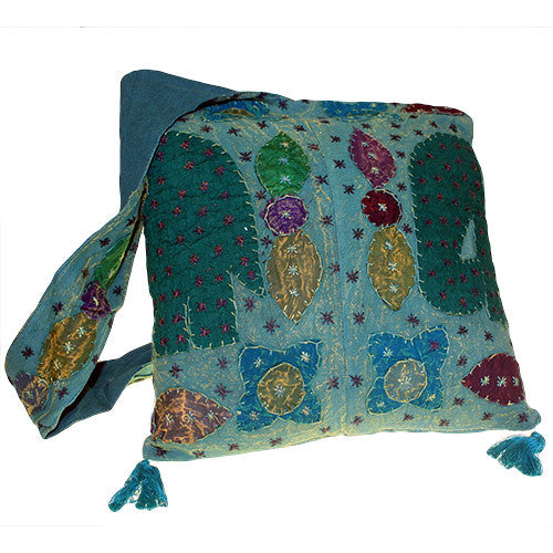 Ethnic Bag - Elephant Patch - Green - Shopy Max
