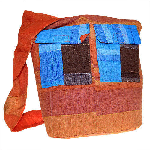 Ethnic Bag - Multi Patch - Natural Oranges - Shopy Max