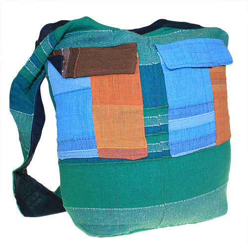 Ethnic Bag - Multi Patch - Green - Shopy Max
