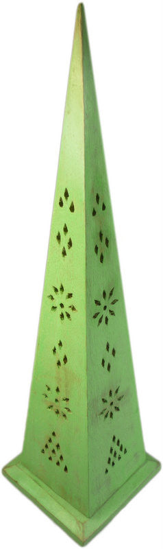 350mm Green Washed Pyramid Incense Box - Shopy Max