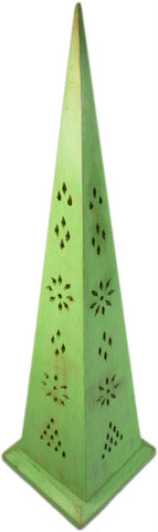 350mm Green Washed Pyramid Incense Box