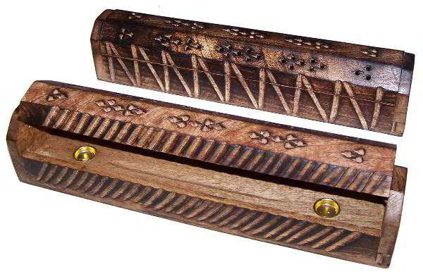 305mm Antique Look Mango Wood Smoke Box - Shopy Max