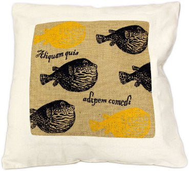 Cushion Cover - Fat Fish