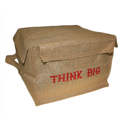 Lrg Jute Box - Think Big