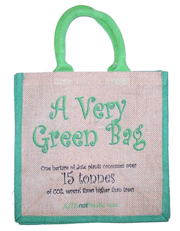 Jute Tantra Bag - A Very Green Bag - Shopy Max