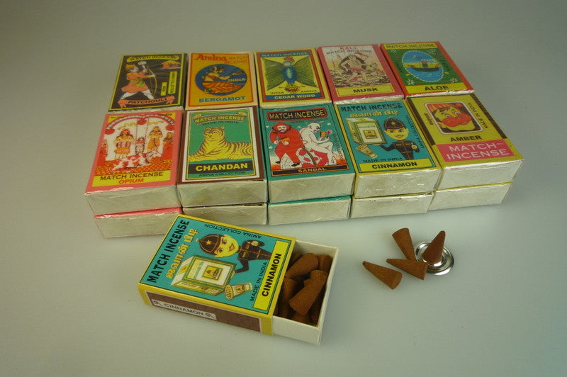Matchbox Incense Cones Spicy Selection - Shopy Max