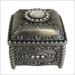 Jewellery Casket - Box with Crystals - Shopy Max