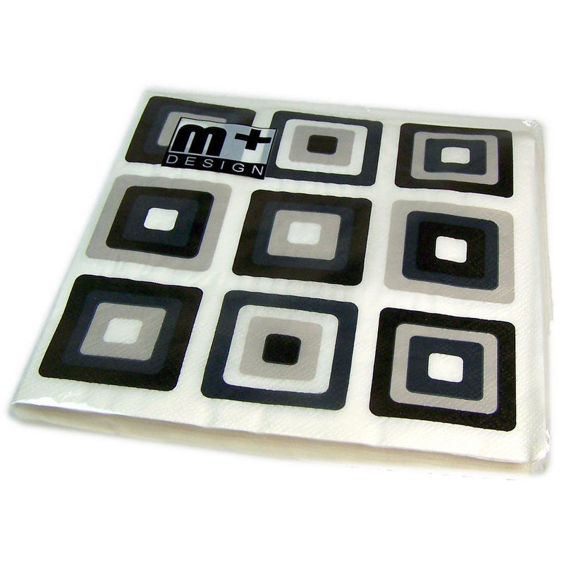 Abstract Squares - Black & Grey