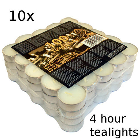 10x Tealights - 4 hour