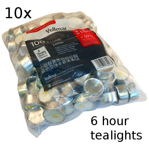 10x Tealights - 6 hour - Shopy Max