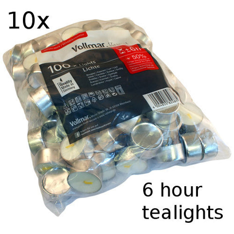 10x Tealights - 6 hour