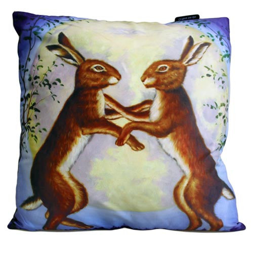 Art Cushion Cover - Night Dancing Hares - Shopy Max