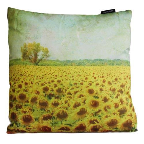 Art Cushion Cover - Sunflower Field - Grunge - Shopy Max