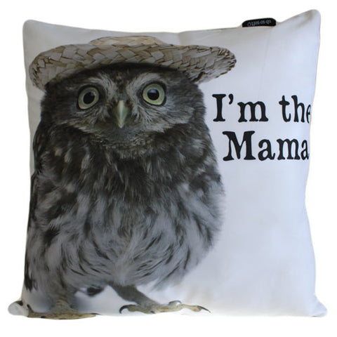 Art Cushion Cover - I'm the Mama OWL