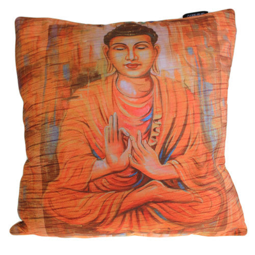 Art Cushion Cover - Peace Wood Buddha - Shopy Max