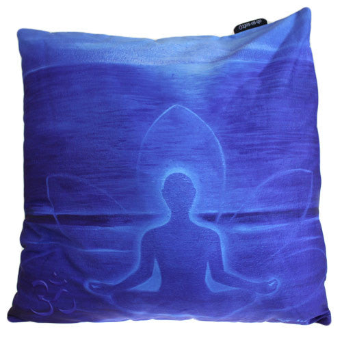 Art Cushion Cover - Deep Blue Buddha - Shopy Max