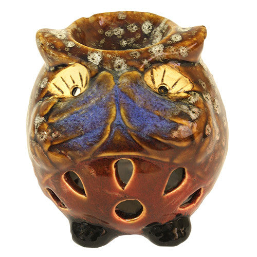 Brown Owl Oil Burner - Speak No Evil