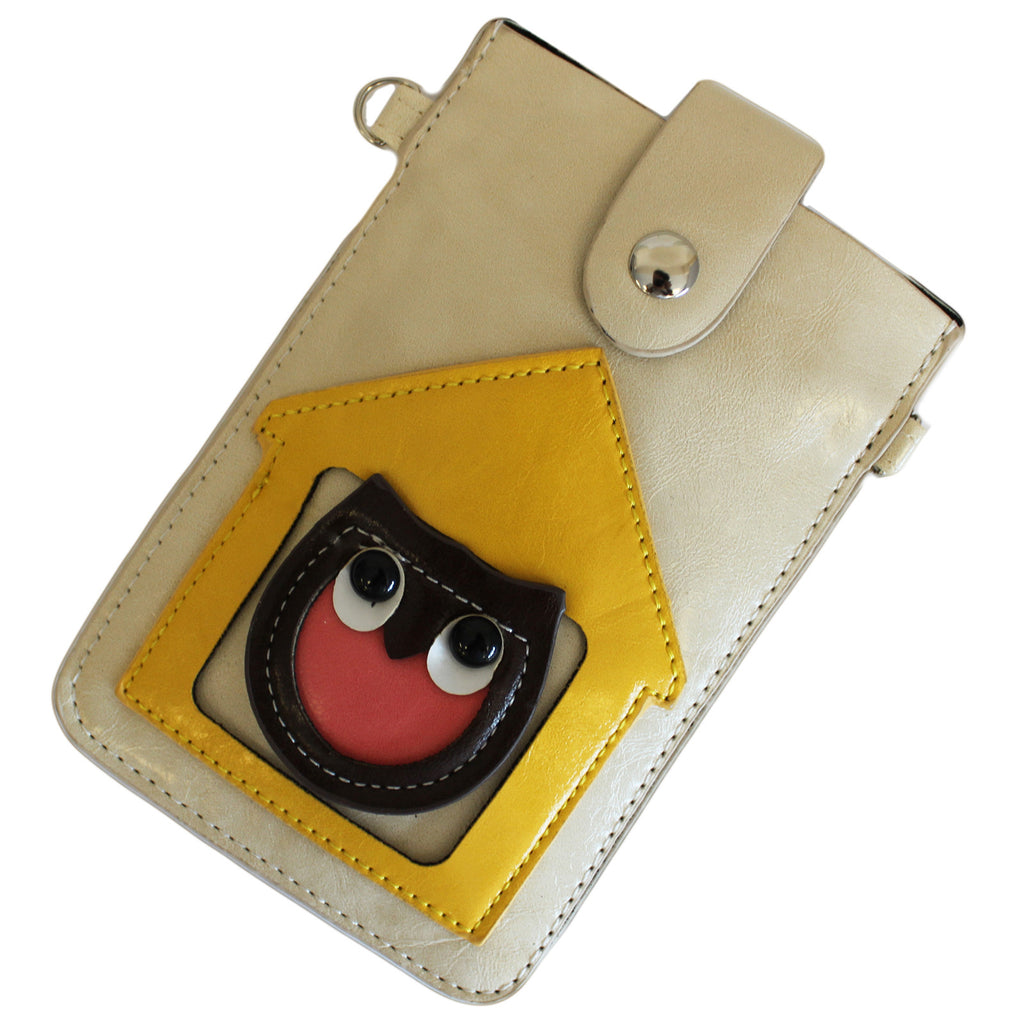 Owl Pouch - White & Yellow - Shopy Max
