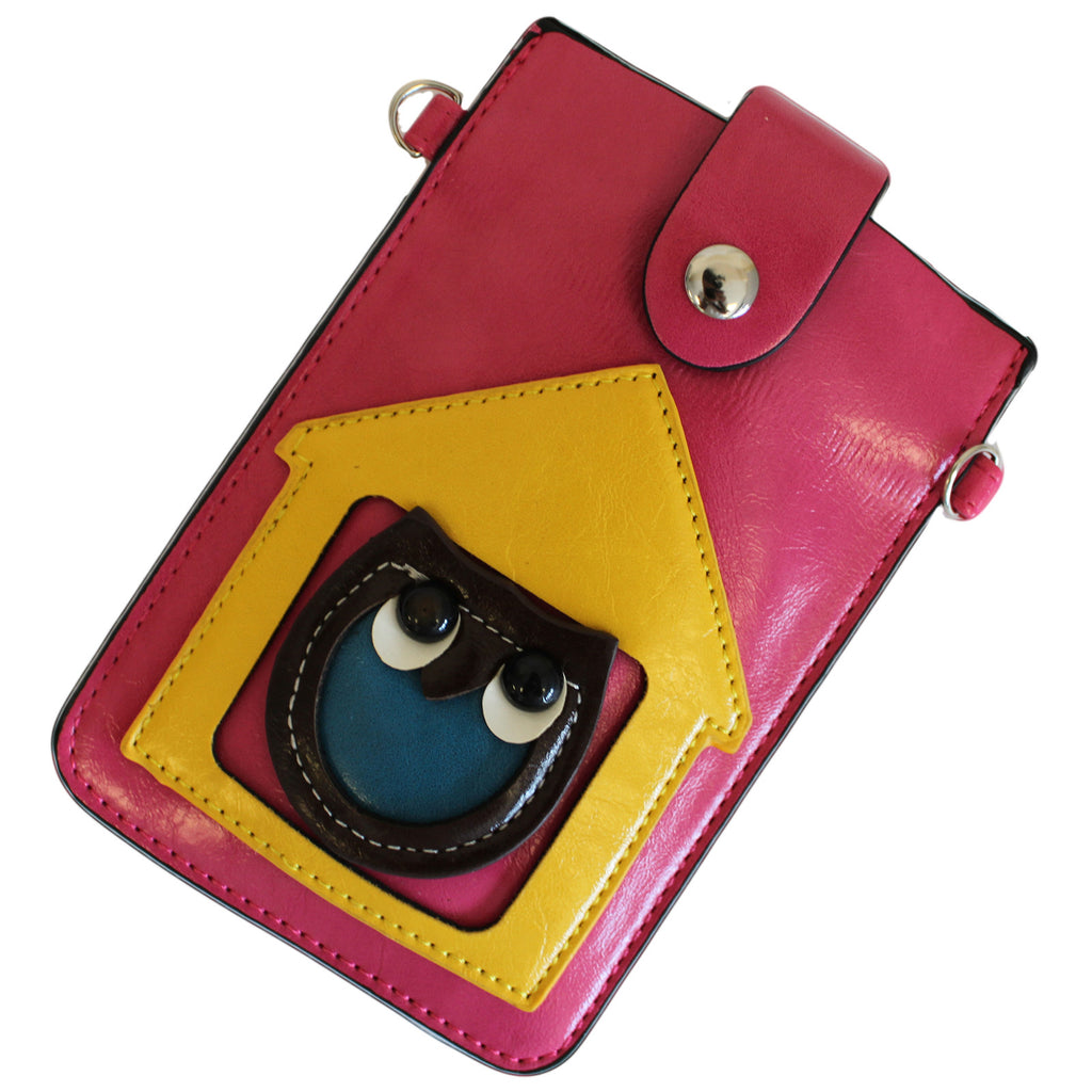Owl Pouch - Red & Yellow - Shopy Max