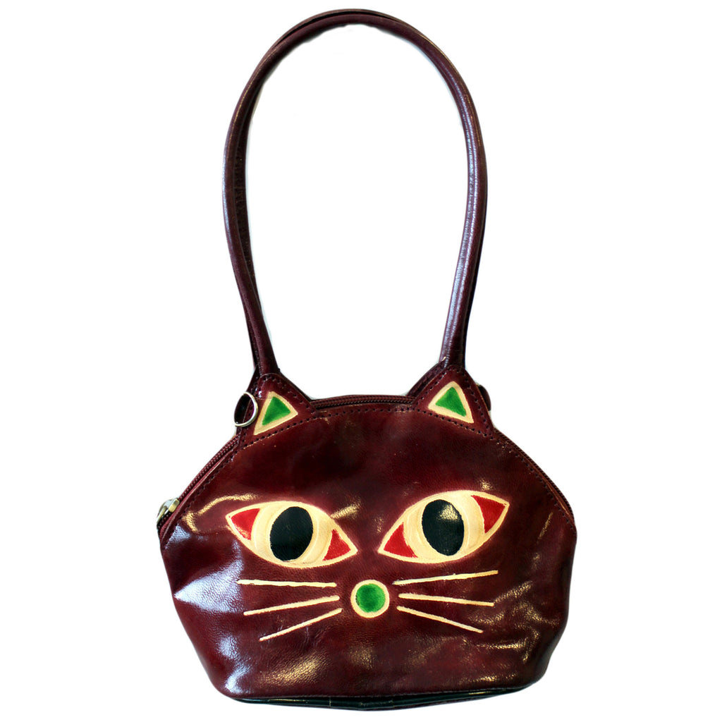 Pussy Cat Bag - burgundy - Shopy Max