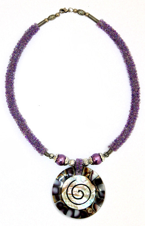 Shell Necklace - Lilac - Shopy Max