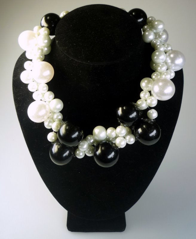 Perilous Pearls Super Drama Cluster Necklace - Shopy Max
