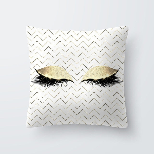 Marble Eye lash Decorative Throw Pillow Cushion Cover Home Decor