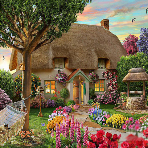 Diamond painting Dream Cottage Diy Diamond Drawing crafts Needlework square drill diamond Mosaic
