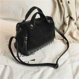 TTOU Fashion Women Top-handle Shoulder Bags With Rivets High Quality Leather