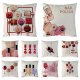 New Cosmetics Perfume Bottles Nail polish Lipsticks Pillow Cove