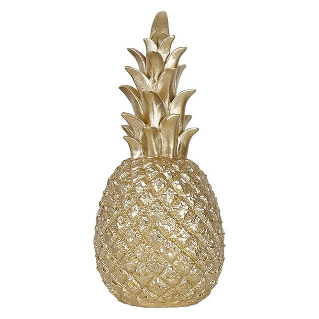 Nordic Style Modern Pineapple Ornament Craft Synthetic Resin Individual Metal Finishes Home