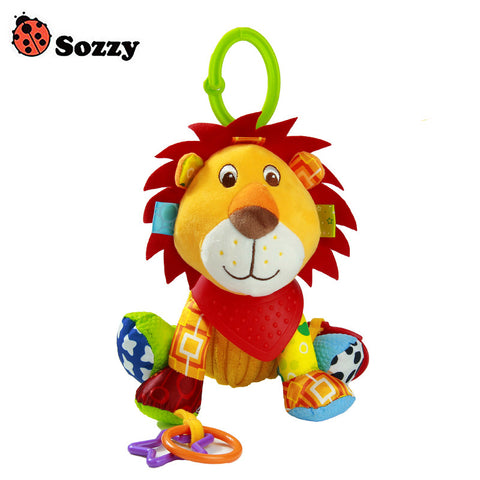 Sozzy Baby Buddies Placate Activity Stuffed Plush Lion Teether Toy 20cm Multicolor Multifunction 3M+