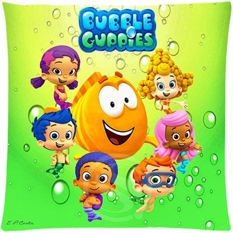 SQ00607-ZHH Free shipping Custom Zippered Square Pillowcase bubble guppies sfot