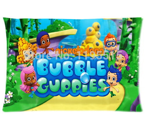 Custom Bubble Guppies Molly Gil Goby Deema Oona Nonny Two Sides Printed for 20*30 Inches