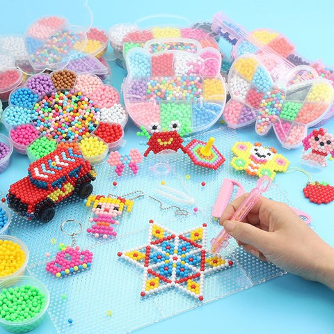 11000PCS 3D Puzzle Toys Diy Water Kralen Craft for Animal Molds DIY Hand Making