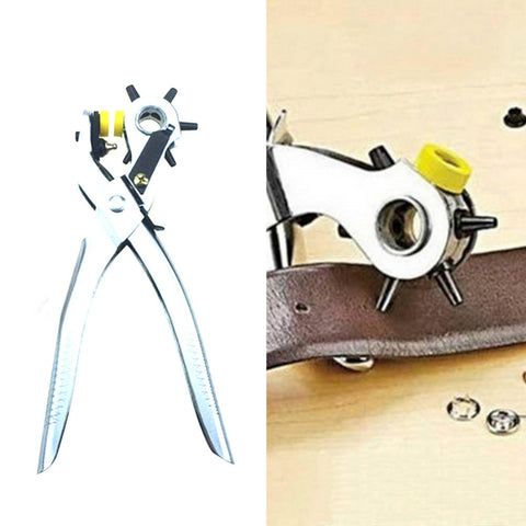 Multi-function Portable Puncher Heavy Duty Leather Hole Punch Hand Pliers