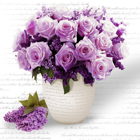 5D Diamond Embroidery Diamond Mosaic Purple Flower Diy Diamond