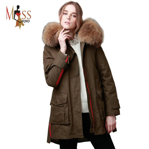 TOP quality new 2016 winter jacket coat women's parkas army green Large