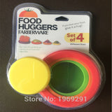 4pcs Silicone Food Huggers Four Sizes Silicone Caps,Food Storage,Food Saver Farberware Assorted Food Huggers