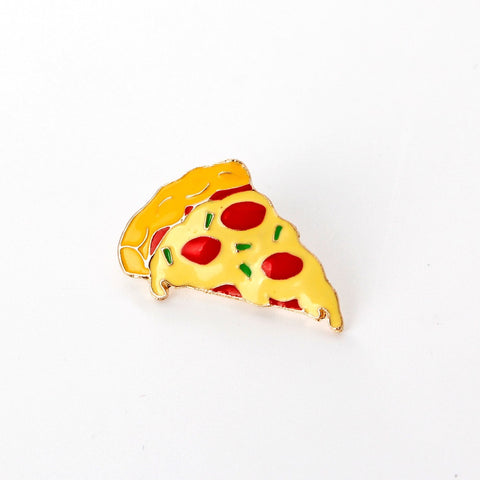simulate pizza pins and brooches Food plant Enamel Pin red yellow broches bag hat jewelry