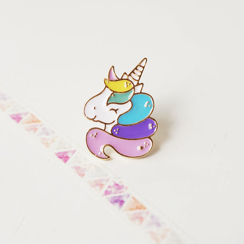 2017 New Cartoon  Cute Metal Enamel Brooches Pins Badge fashion Charming Horse