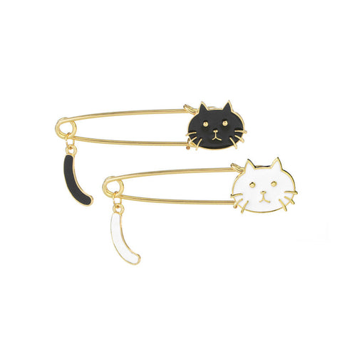 Fashion Exquisite Enamel Pin Kitty Cat Tail Brooch Pins Reto Brooches For Women Jewelry Brooch