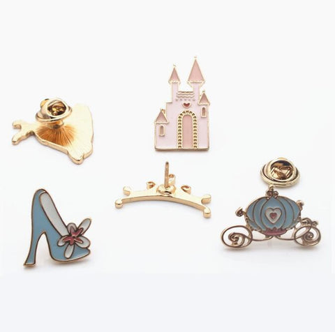 Jisensp 2017 New Fashion Crown Shoes Brooch Pins Jewelry Accessories Cartoon