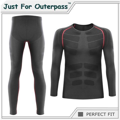 2017 Winter Thermal Underwear Sets Men Brand Quick Dry Anti microbial Stretch