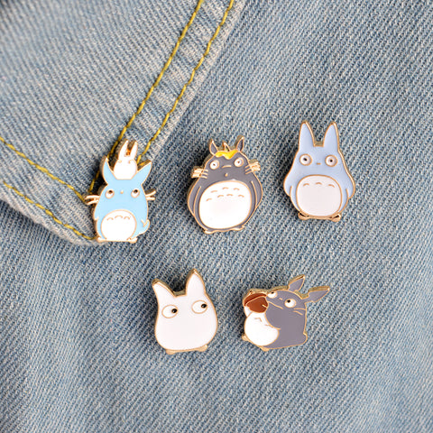 5pcs/set Japan Anime TOTORO Enamel Pins and Brooches Childrens Clothing