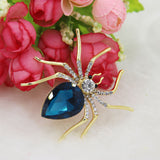 Crystal Spider Brooch Spille Da Donna Enamel Pins Cute Love Collar Tips Mujer