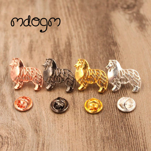 Mdogm 2017 Cute Shetland Sheepdog Dog Animal Brooches And Pins  Suit Metal