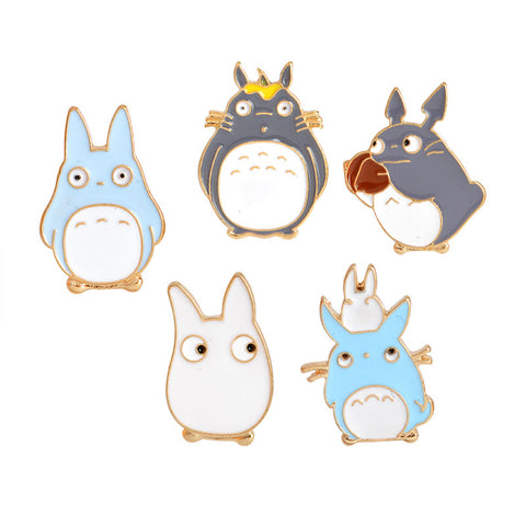 Japanese Anime My Neighbor Totoro Brooches Metal Enamel Pin Badge For Women